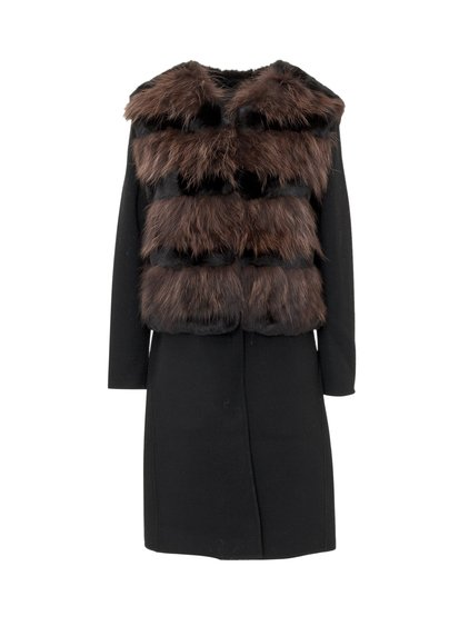 Coat with Fur Vest image