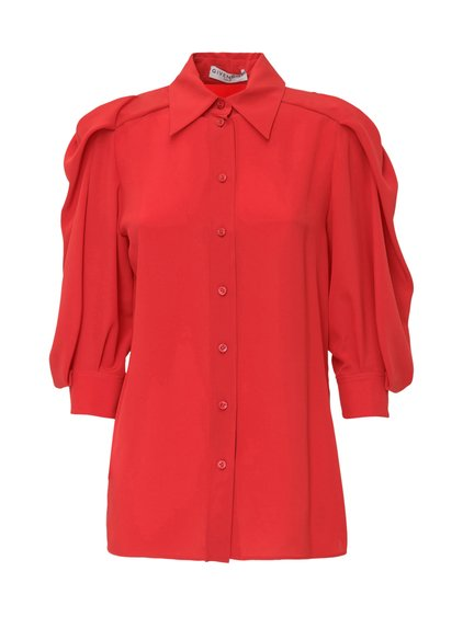 Blouse with Gathered Sleeves image