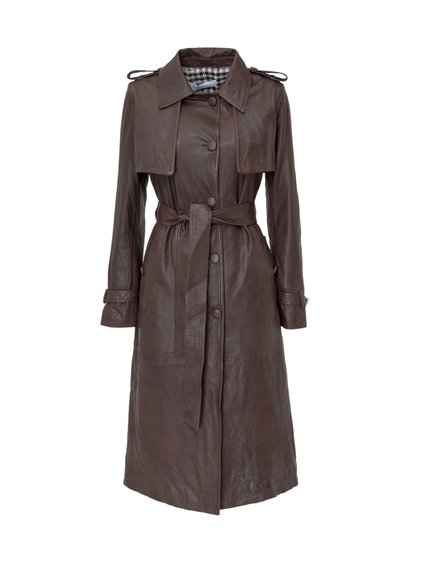 Leather Trench Coat image
