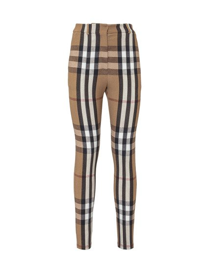 Vintage check print trousers image