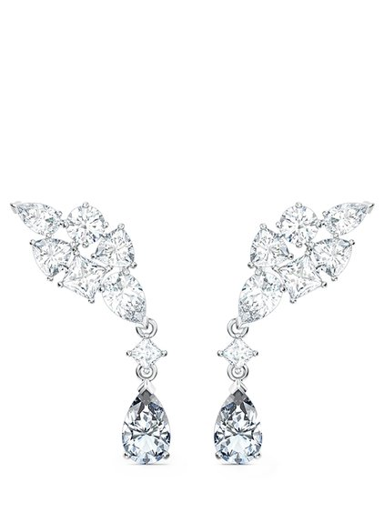 Cluster Mixed Deluxe Tennis Earrings image