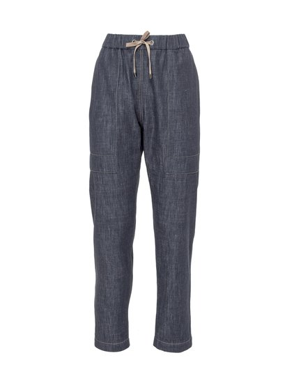 Trousers With Elastic Waist. image