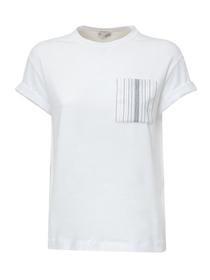 BRUNELLO CUCINELLI##T-Shirt with Square Pocket image