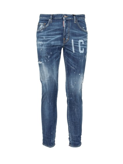 DSQUARED2##Distressed Effect Jeans image