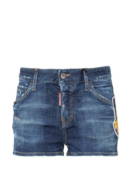 Denim Shorts With Logo image