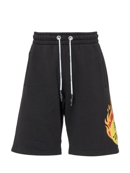 Shorts with Burning Head Print image