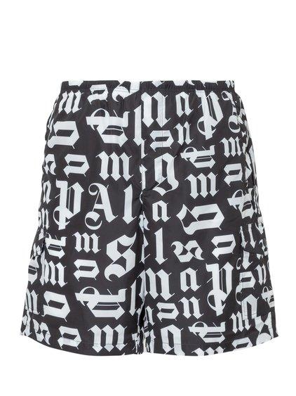 Swimwear Shorts with Broken Monogram image