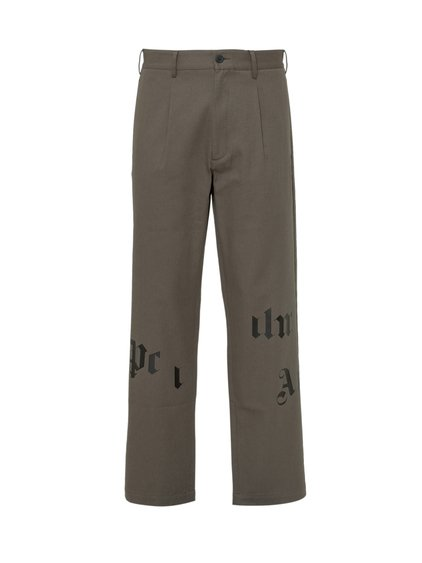 Chinos Trousers with Broken Logo image