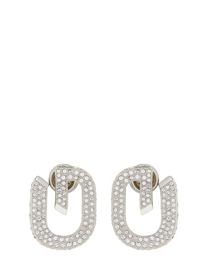 G LINK EARRINGS CRYSTALS PAVED image