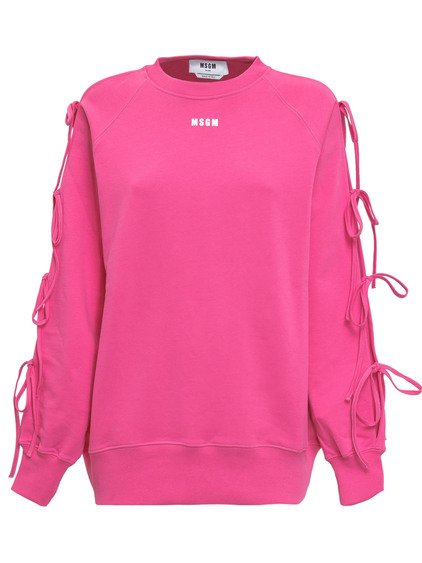 Sweatshirt with Sleeves with Bow image