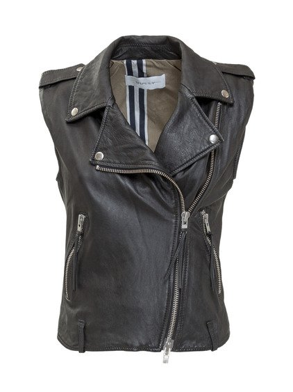 Leather gilet image