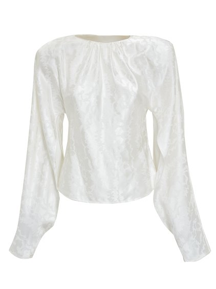 Blouse with Padded Shoulders image
