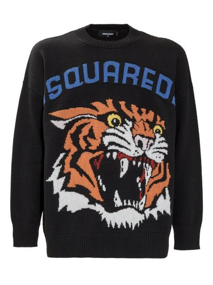 Knitwear with Tiger image