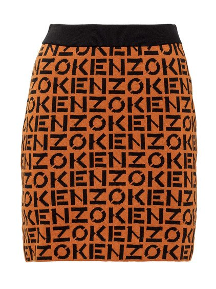Skirt with All-over Logo image