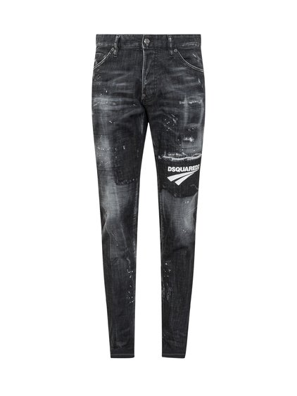 Skinny Fit Jeans with Logo image