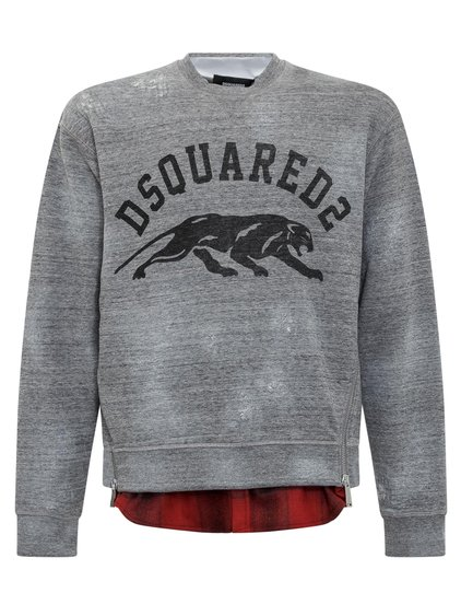 Sweatshirt with Fake Shirt Underneath image