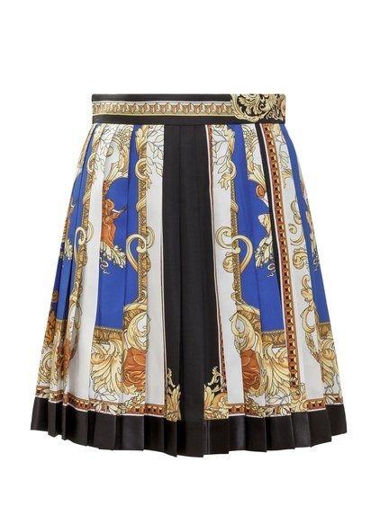 Pleated Skirt with Pattern image