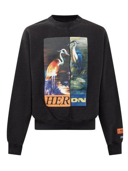 Crewneck Sweatshirt Split Heron image