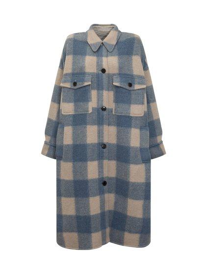 Long Plaid Coat image