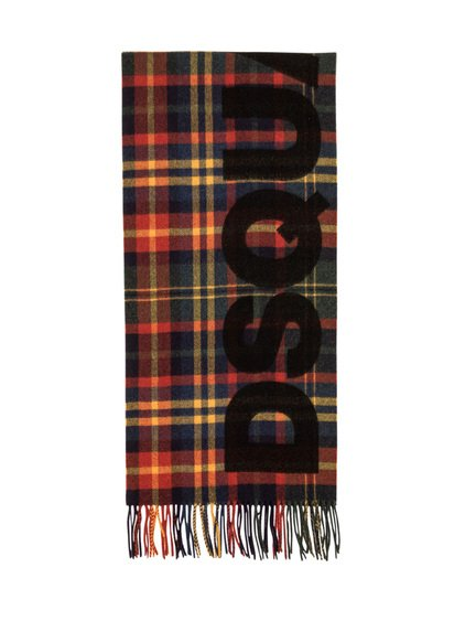 Checked Wool Scarf image