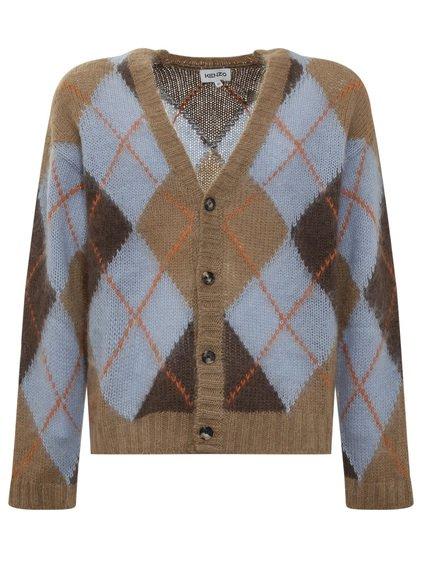 Argyle Button Cardigan image