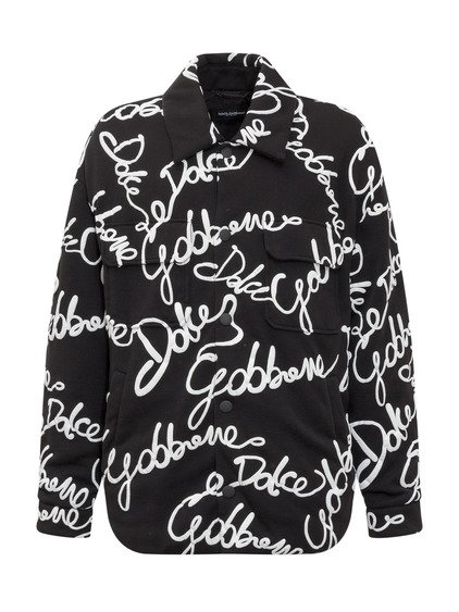 Jacket with Logo Print All-Over image