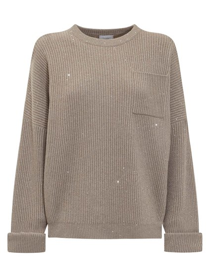 Crewneck Knitwear with Paillettes image