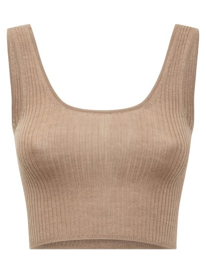 Cashmere Cropped Top image
