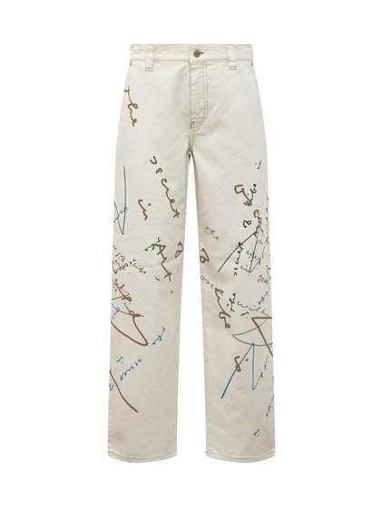 Denim Trousers with Prints image