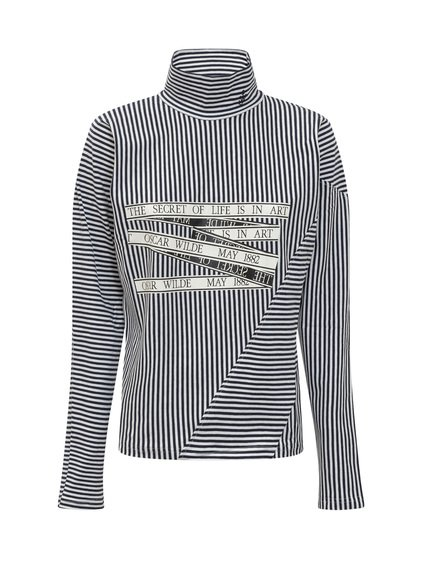 Striped Turtleneck T-Shirt image