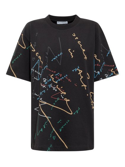 T-Shirt with Colored Print image