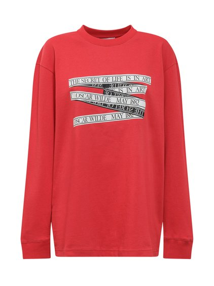 T-Shirt with Long Sleeves and Print image