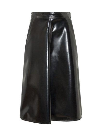 2 Moncler 1952 Midi Polished Skirt image