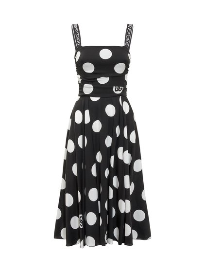 Polka Dot Dress in Charmeuse image