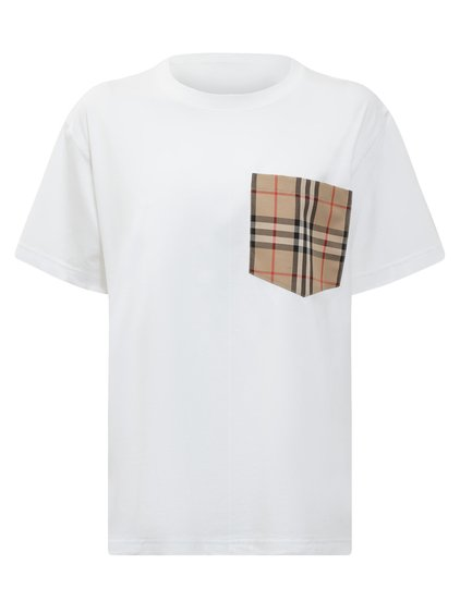Oversize T-Shirt with Pocket in Tartan Pattern image