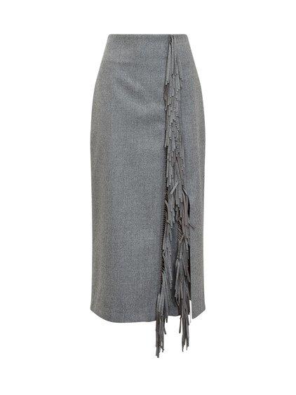 Skirt Sheath Laser-Cut Fringing image