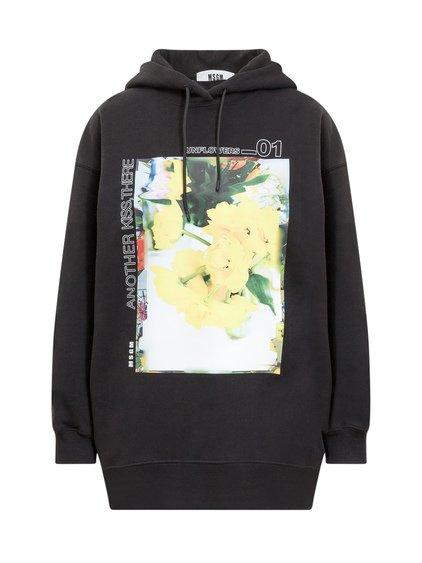Hoodie with Floral Print image