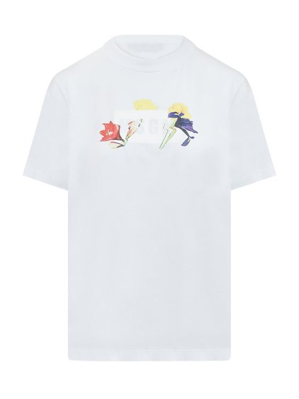 T-Shirt with Floral Print image