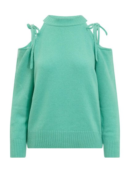 Long Sleeved Knitwear with Cut-Out image