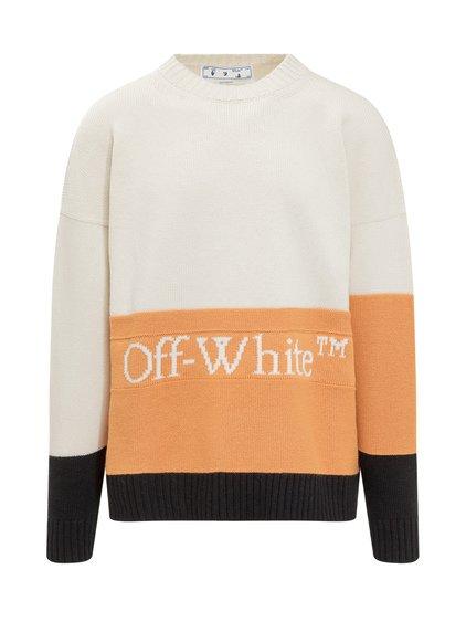 Blocked Knit Crewneck Sweater image