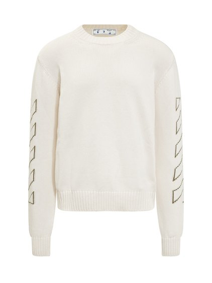 Crewneck Sweater with Arrow and Diag image