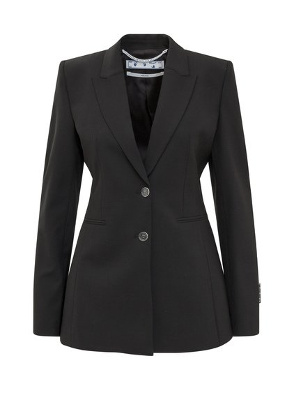 Light Wool Blazer with Buttons image