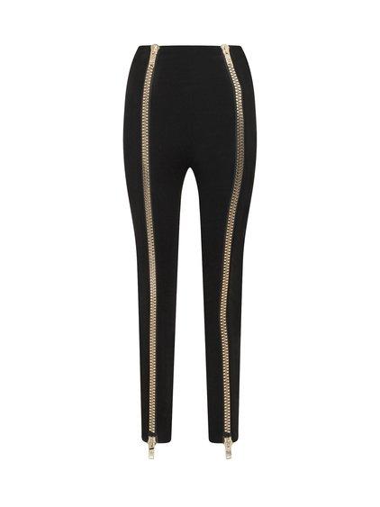 Trouser with Golden Zip image