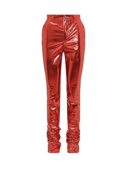 Trousers in Metallic Fabric image