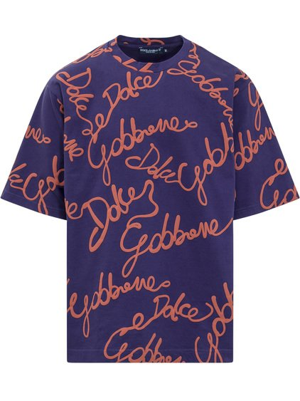 Crewneck T-Shirt with Logo All-Over image