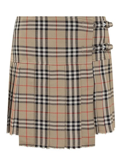 Pleated Check Skirt image