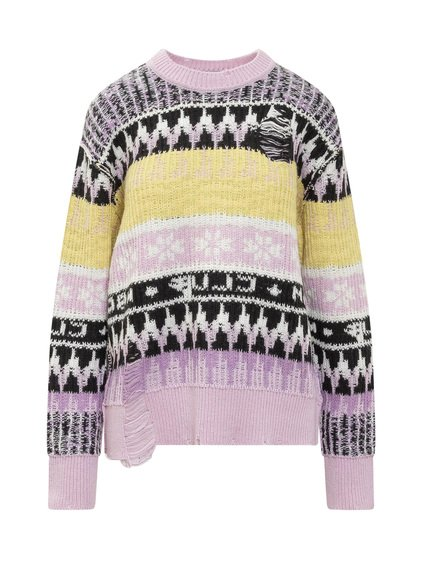 Sweater with Striped Pattern image