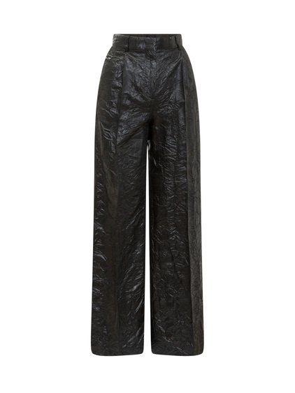 Trousers with Wrinkled Effect image