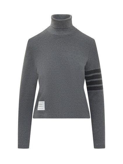 Turtleneck Knitwear Checked image