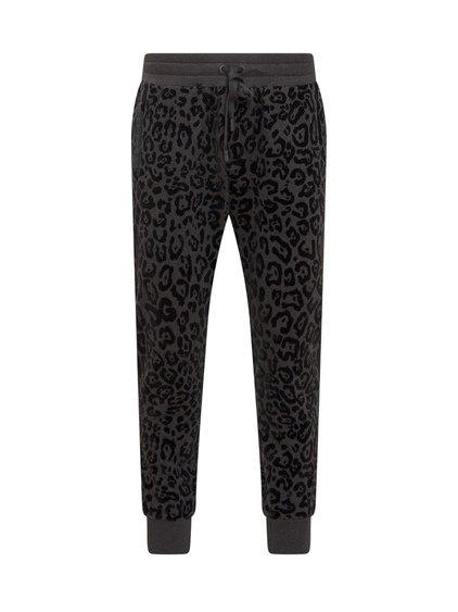Velvet Leopard Trousers image